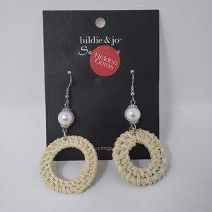 Hildie & Jo Cream Earrings